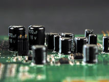 Circuit board. Close-up oc transistors Stock Photography