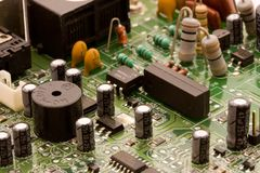 Circuit board. From an old modem Royalty Free Stock Photography