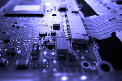 Circuit board. Close-in shot of computer circuit board Royalty Free Stock Photos