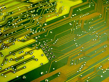 Circuit Board. With solderings and paths stock image