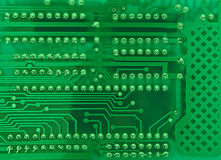 Circuit Board. With solderings and paths stock photos