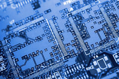 Circuit Board. Closeup of circuit board Royalty Free Stock Photography