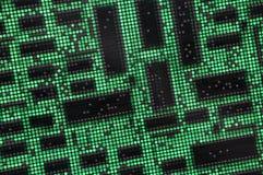Circuit board. The virtual green city circuit board Stock Photos