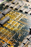 Circuit board. With printed circuit and semiconductor Royalty Free Stock Images