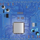 Circuit board. Electronic circuit board vector with chip, technology, microchip background Stock Photos