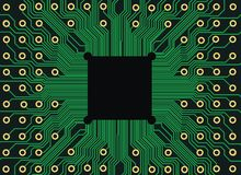 Circuit board. Electronic circuit board vector with chip, technology, microchip background Royalty Free Stock Images