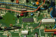 Circuit board. Background macro of circuit board Royalty Free Stock Photos