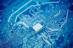 Circuit board. With blue tone Stock Photography