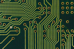 Circuit board. Close up photo of circuit board Stock Photography