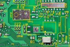 Circuit Board. Closeup of green circuit board Stock Photo