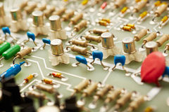 Circuit Board. And electronic components Royalty Free Stock Images