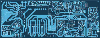 Circuit Board. Vector electronic circuit board - industrial background Stock Photography
