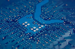 Circuit board. Electronic circuit board. futuristic computer component Royalty Free Stock Image