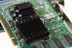 Circuit board. Close up stock image