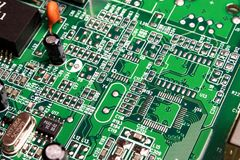 Circuit board. Close Up Of  a Circuit board Stock Photo