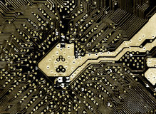 Circuit board. Detailed circuit board close up stock images