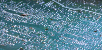Circuit board. Old television/computer circuit board Stock Photo