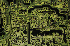 Circuit Board. This is a printed circuit board with no hardware installed Stock Image