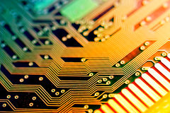 Circuit board. Technology concept.  macro stock image