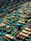Circuit  board. With elements Stock Images