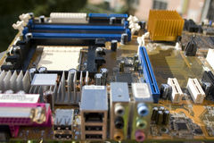 Circuit board. And some chips Stock Photography