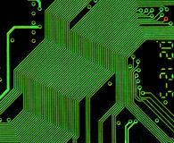 Circuit board. Close up of circuit board Stock Images