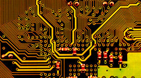 Circuit board. Close up of circuit board royalty free stock photo