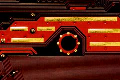 Circuit board. Close up of circuit board Royalty Free Stock Photography