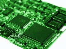 Circuit board. Green circuit board with narrow focus Royalty Free Stock Image