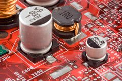 Circuit Board. Electronic circuit board royalty free stock image