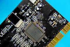 Circuit board. The Details of the USB Interface Card Stock Photo