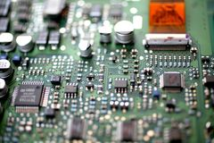Circuit Board. A photograph of a circuit board Royalty Free Stock Photo