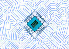 Circuit Board. Abstract background. 3D render Royalty Free Stock Images