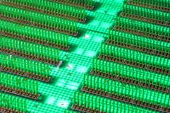 Circuit board abstract city Royalty Free Stock Image