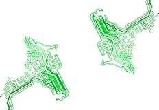 Circuit board abstract EPS10 vector background Royalty Free Stock Images