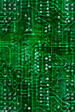 Circuit board, background. Green illustration of a circuit board Stock Image