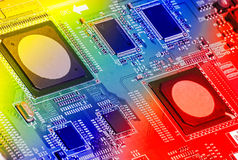 Circuit Board. Background can use the Internet, print advertising and design Stock Photo