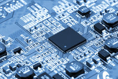 Circuit Board. Background can use the Internet, print advertising and design Royalty Free Stock Photos