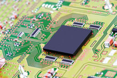 Circuit Board. Background can use the Internet, print advertising and design Royalty Free Stock Photography