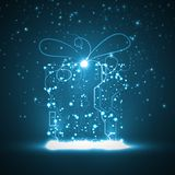 Circuit board background, christmas gift Royalty Free Stock Image