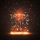 Circuit board background, christmas gift Royalty Free Stock Images