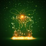 Circuit board background, christmas gift Royalty Free Stock Photo