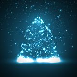 Circuit board background, christmas tree Royalty Free Stock Images