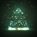 Circuit board background, christmas tree Royalty Free Stock Photos