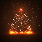 Circuit board background, christmas tree Stock Photography