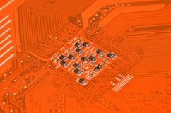 Circuit board background, DOF Royalty Free Stock Photography