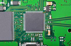 Circuit board background, DOF Royalty Free Stock Image