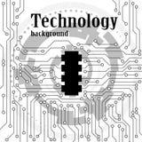 Circuit board background, electronic pattern Stock Photo