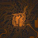 Circuit board background texture Computer technology. Technical vector illustration