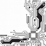 Circuit board background texture. Vector illustration Stock Photography